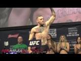 UFC 205: Конор МакГрегор - Эдди Альварез - Взвешивание | Лицом к лицу