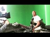 Видео со съемок фильма фильма «Рэмпейдж»