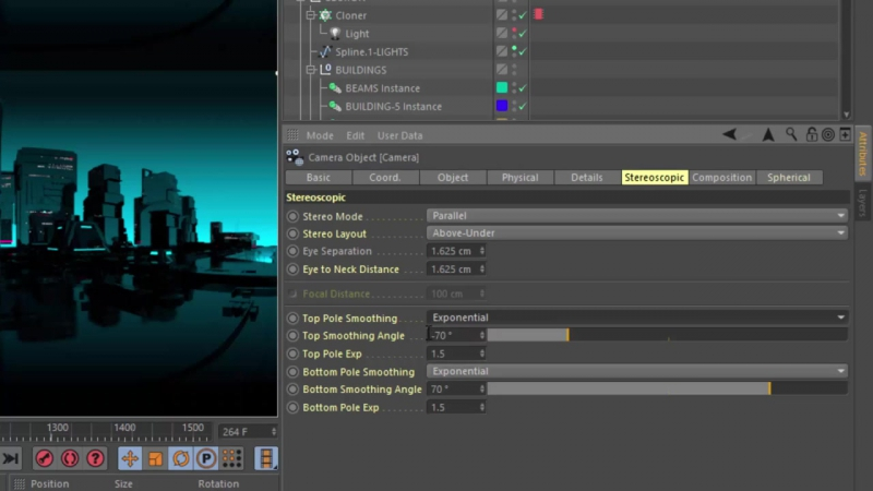 New in Cinema 4D R19- Render 360° Stereo VR Video with R19s Spherical Camera