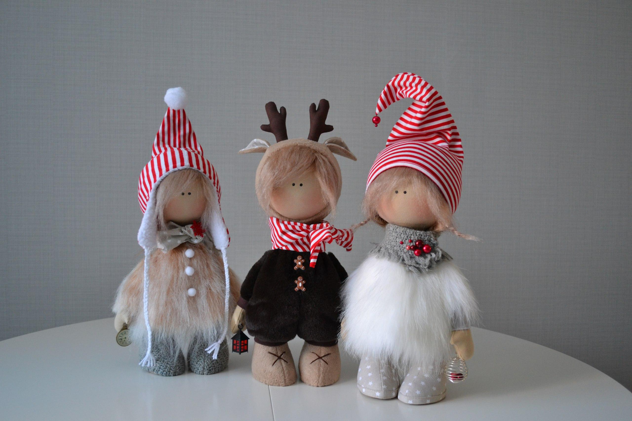 новогодние куклы елены коруновой