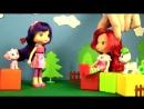 Мультики для девочек. Куколки Земляничка с Вишенкой готовятся к выставке собак кукольный театр