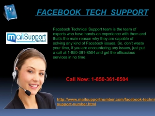 Get the Instant help by Facebook Tech Support 1-850-361-8504 Experts