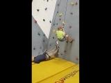 Летняя тренировка на скалодроме, работа ногами))