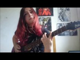Through The Fire And Flames - Dragonforce Guitar Cover Juliana Wilson
