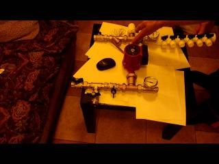 Смесительный узел для тёплых полов на двухходовом клапане,част2
