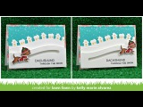 STAMPtember Exclusive Lawn Fawn Happy Howlidays Slider Card by Kelly Marie Alvarez