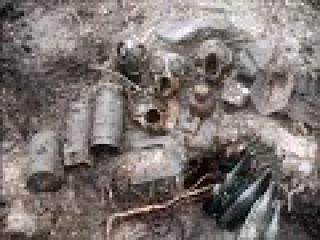 WWII ZONDER коп немецкого блиндажа /excavations of the German dugout WW2