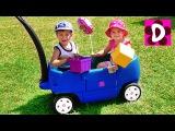 ВЛОГ Едем на Ферму собирать Ягоды Kids went to the farm Song Funny video for kids Рома и Диана