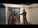 Установка гаражных откатных секционных ворот RYTERNA