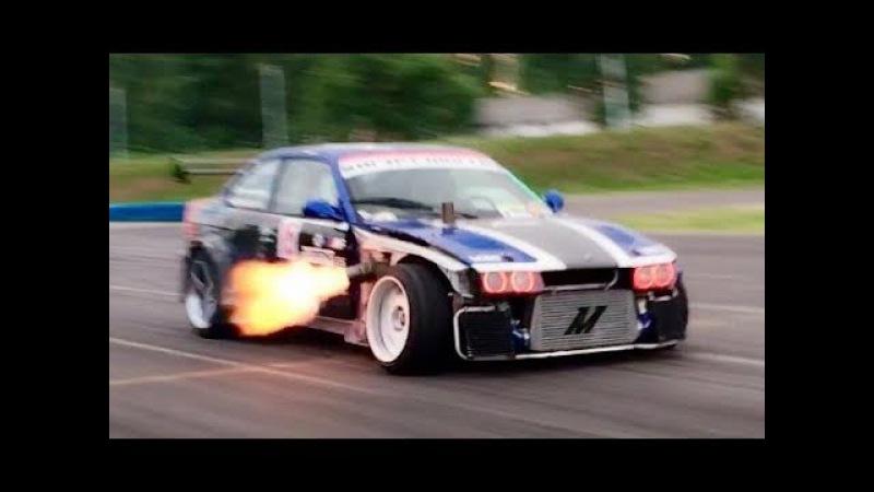 2JZ Anti Lag FLAME THROWER BMW E36 Drifting Nagy Ferenc DRIFT MATSURI 2017