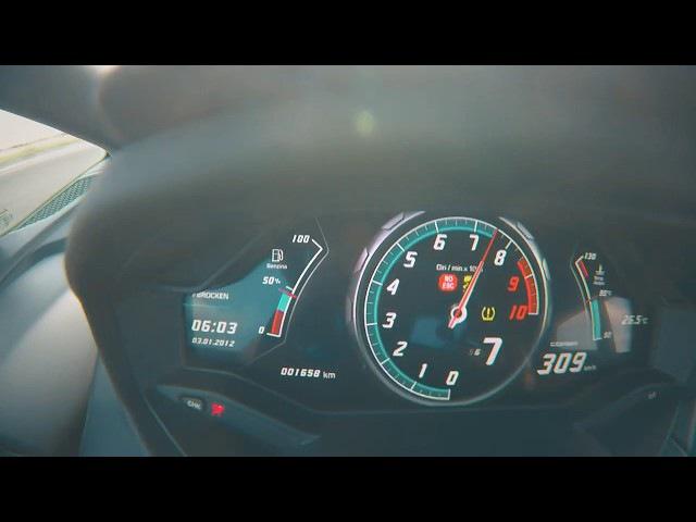 0-360 kph Lamborghini Huracan TT GTT-X (1200 hp)