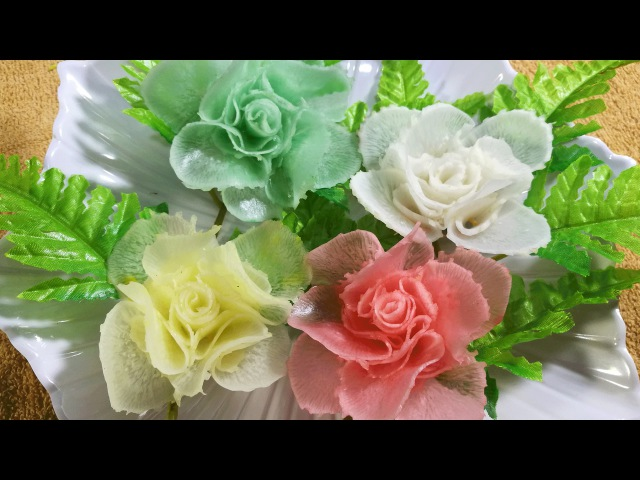 Vegetable Art In Rose - Radish Design In to flower Ornament