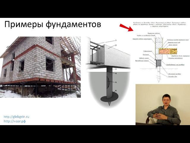 13) На каких фундаментах можно строить газобетонный дом? 13) yf rfrb[ aeylfvtynf[ vj;yj cnhjbnm ufpj