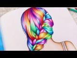 Всегда приятно смотреть, как кто-то работает... Rainbow Braid- Coloring book Color Me Inspired