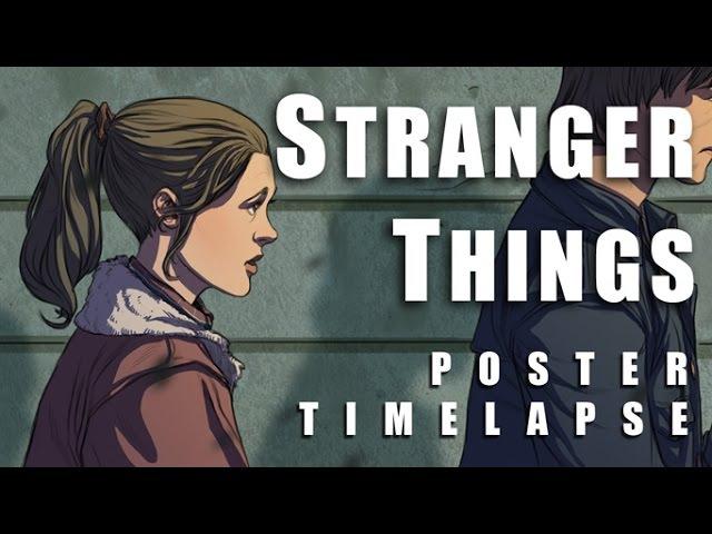 STRANGER THINGS Poster Art TImelapse