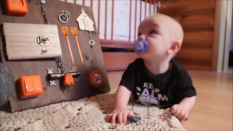 Бизиборд - развивающая доска для детей