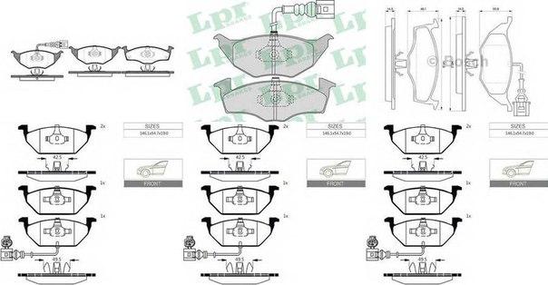 Комплект тормозных колодок, дисковый тормоз для AUDI A2 (8Z0)