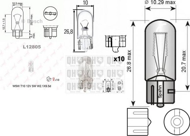 Лампа накаливания, фонарь сигнала тормож./ задний габ. огонь; Лампа накаливания, фонарь освещения номерного знака; Лампа накаливания, фара заднего хода; Лампа накаливания, задний гарабитный огонь для AUDI A4 кабрио (8H7, B6, 8HE, B7)