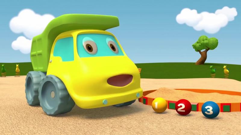 Мультики - Синий Трактор Гоша - Грузовик и Трактор играют с шариками и учатся считать от 1 до 3