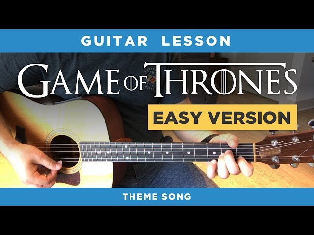 🎸 Game of Thrones easy guitar lesson (theme song) - no capo, chords intro tabs