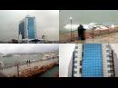 Шторм в Одессе: на морвокзале затонула яхта, а с гостиницы срывает фасад