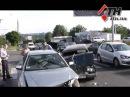 07 08 14 Тройное ДТП на Салтовке один из водителей был пьян