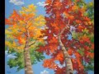 How To Paint Trees Full Slow Video