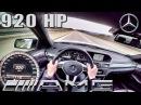 Mercedes E63 AMG 920 HP POV Autobahn 320 km/h 5.8 V8 BiTurbo GAD Motors by AutoTopNL