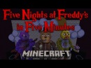 Five Nights at Freddy's in Five Minutes A Minecraft Roller Coaster Music Video FNAF