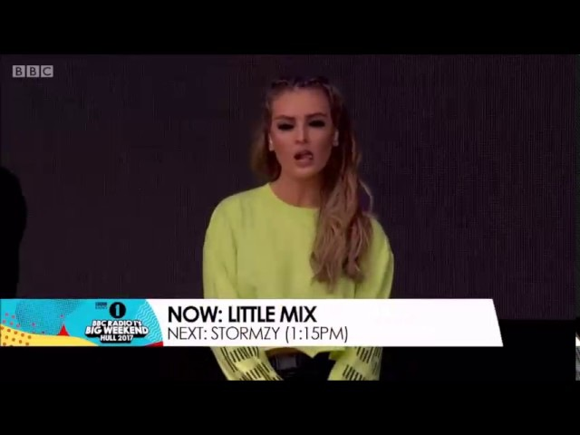 Little Mix performing Down Dirty At BBC Radio 1's Big Weekend