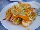 Обед в Кафе У Тэна на пляже Зоклет во Вьетнаме 2016г ноябрь holidays in Vietnam