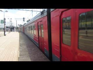 Электропоезд ЭД4М-0136 платформа Плющево 20.06.2017