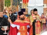 Освящение и установка креста на храме Воскресения Господня в деревне Старая Хотча(TV 360)