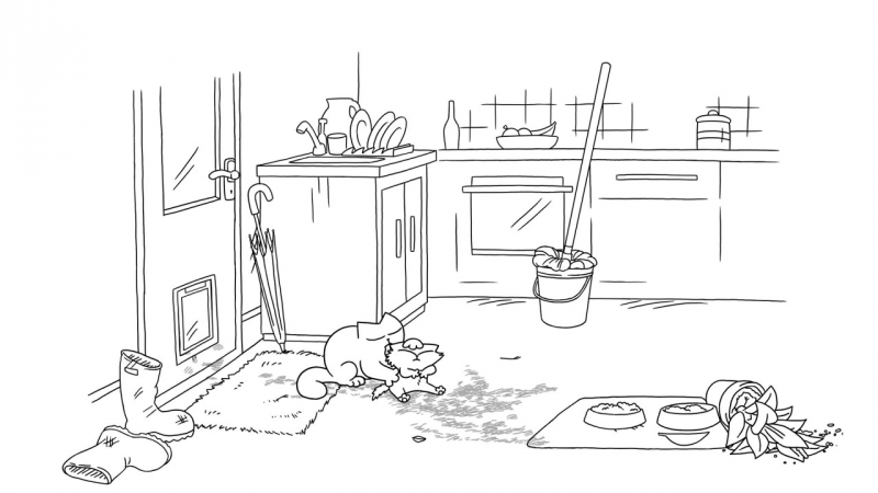 Кот Саймона / Simon's Cat - 53 серия (Muddy Paws / Грязные лапы)
