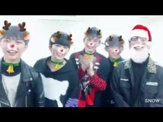 [TWITTER] InSoo: Помощники Санты (feat.ГонУ ) mygirl Счастливого Рождества !! 💋