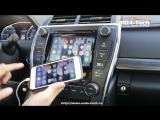 Зеркалирование картинки с iPhone на Toyota Camry 2016