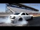 Maybach burnout at the drag strip