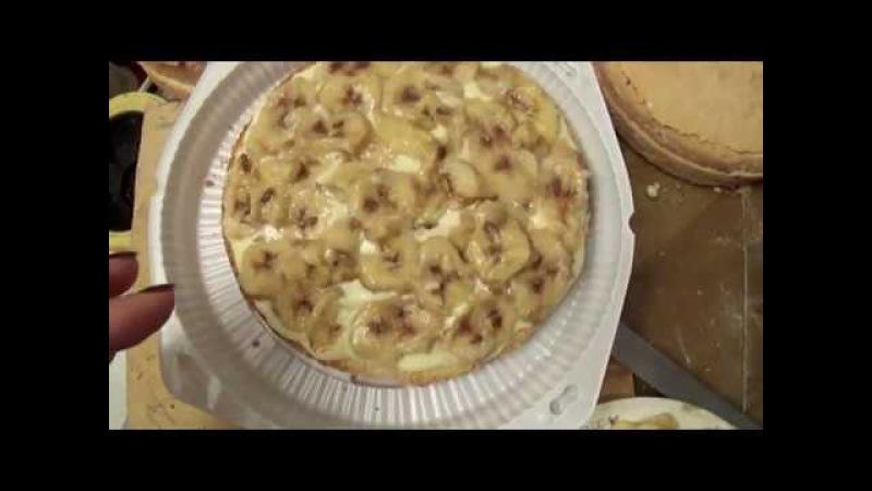 Вкусняшный банановый торт