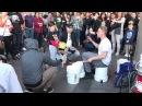 Insane street performer bucket boy Matthew Pretty