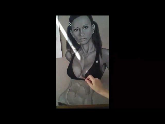 How to draw : Fitness Guru Zuzana Light. Урок рисования ....