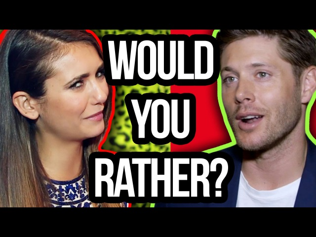 Would You Rather w/ Nina Dobrev, Teen Wolf More (Wiggle Wiggle or Turn Down For What) SDCC 2014