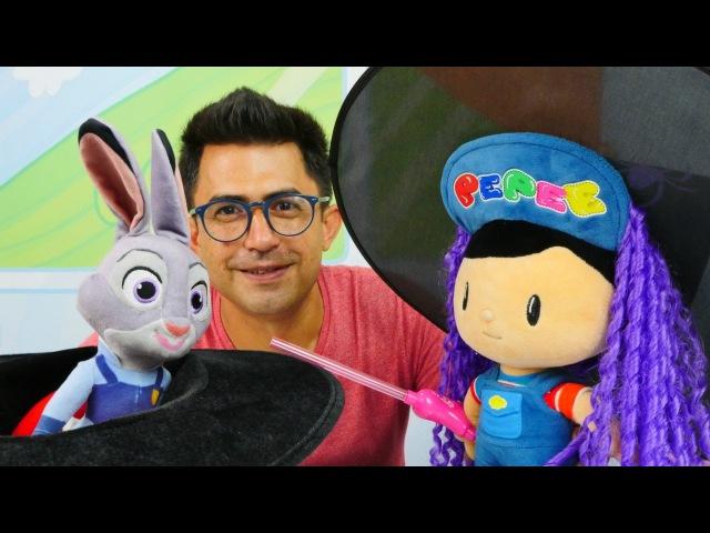 Pepee Nail Baba ŞOV yapıyor Zootropolis Judy ile Evcilik oyuncaklar Okul öncesi eğitici oyun
