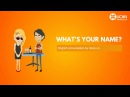 Learn English Conversation - Lesson 2. What's your name?