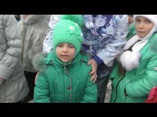 Калиново, 9 января, 2017 . Недетские стихи от  детей Донбасса