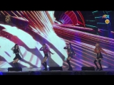 Black Pink - Whistle + Playing With Fire @ 2017 Golden Disc Awards 170113