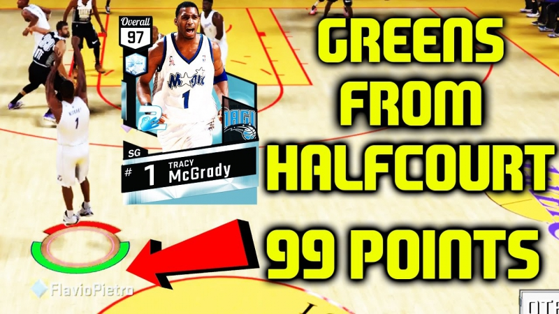 DIAMOND DEEP SHOOTERS TRACY MCGRADY GREENS FROM HALFCOURT 99 POINTS NBA 2K17 MYTEAM ONLINE GAMEPLAY