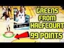 DIAMOND DEEP SHOOTERS TRACY MCGRADY GREENS FROM HALFCOURT 99 POINTS NBA 2K17 MYTEAM ONLINE GAMEPLAY