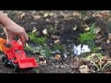 Мультик про машинки. Трактор, экскаватор и кран собирают грибы. МанкитуМульт