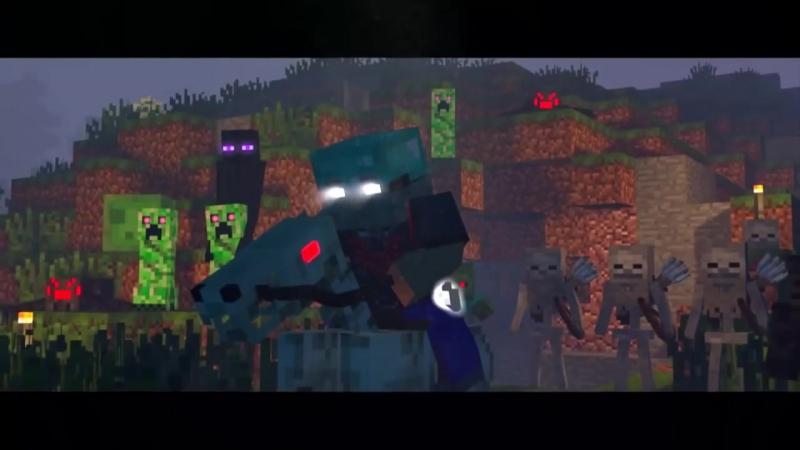 ХЕРОБРИН VS ENTITY 303 - Майнкрафт Клип (На Русском) _ Herobrine Life Minecraft (1)