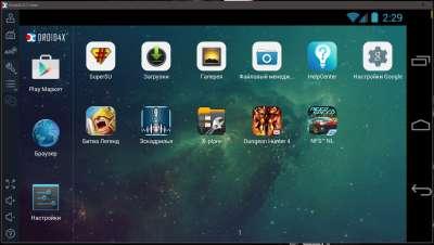 Запуск Android игры на ПК при помощи эмулятора Droid4X